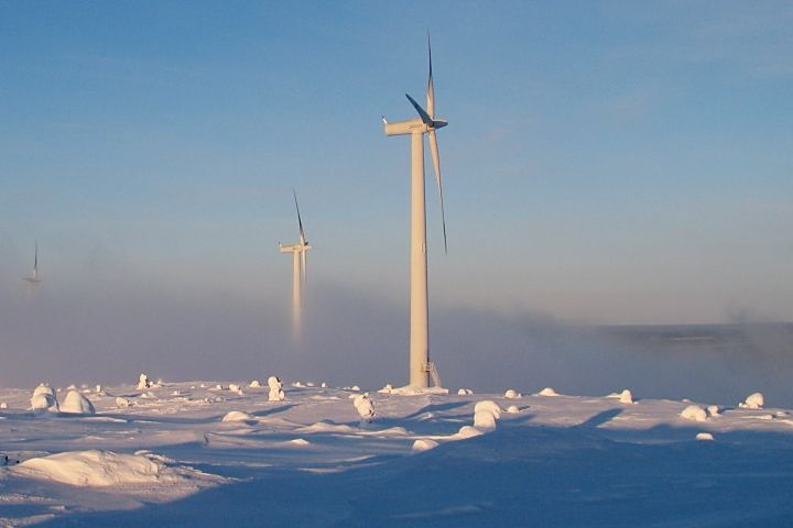 Wind farm cold weather